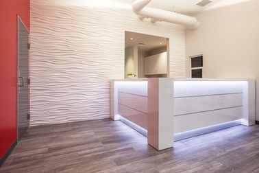 Lovely Modern Reception Desks With LED Lighting