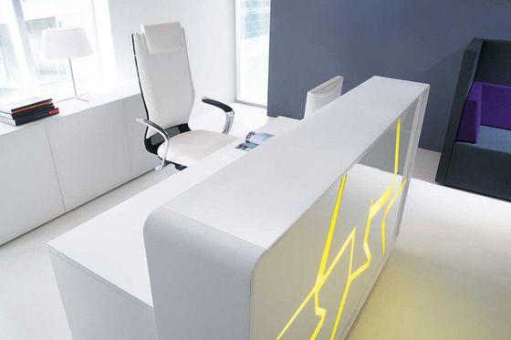 modern reception desks with led lighting